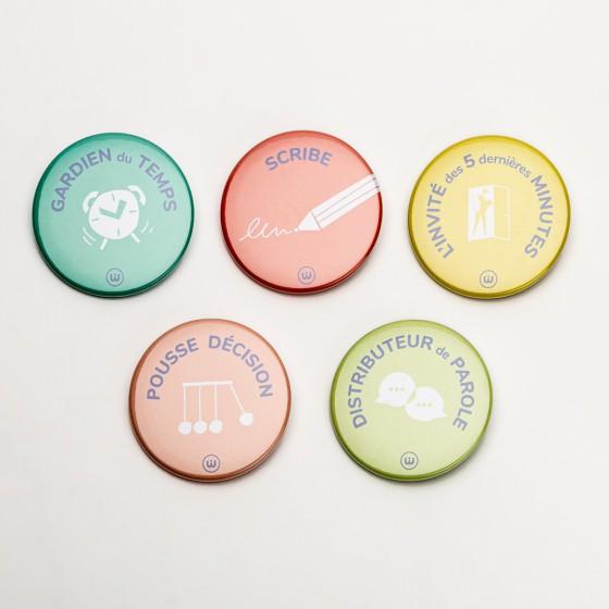 5 badges réunion déléguée