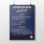 L'affiche des règles du jeu du stand-up